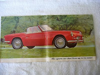 1962 64 ? Triumph Spitfire sales brochure folder Nice No Rips