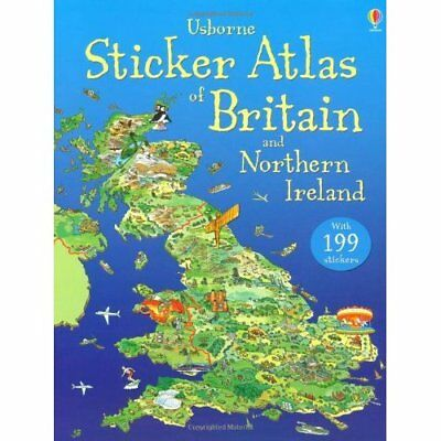 Usborne Sticker Atlas of Britain and Northern Ireland ( - Paperback NEW Turnbull
