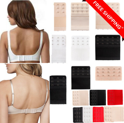 1/3Pcs 2/3/4 Hook Soft Elastic Bra Extender Strap Extension Underwear Strapless