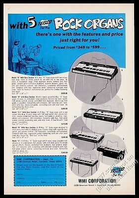 1967 Teisco Del Rey Rock Organ model G D C1 B C photo vintage print ad