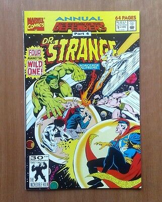 Doctor Strange Annual #2 Marvel Comics 1992 Return Of The Defenders V/fine Cond