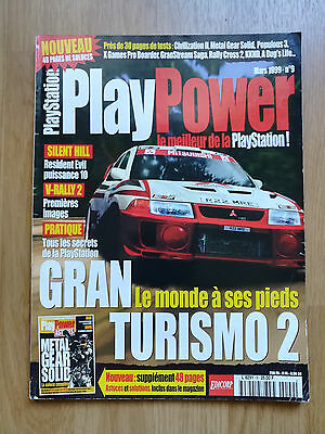 Magazine Jeux Video Playpower N°9 Playstation Grand Turismo Ps1 Ps2 Revue Game