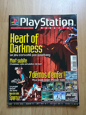 Magazine Jeux Video Playstation Ps1 N°21 Sony Juin 1998 Heart Darkness Revue