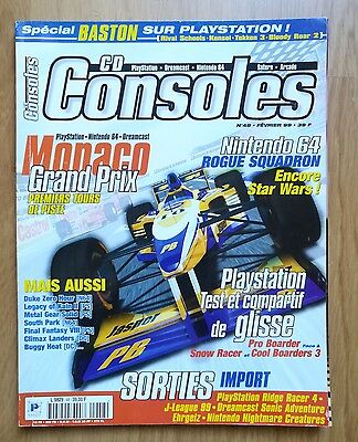 Magazine Jeux Video Cd Consoles 1999 N°48 Playstation Dreamcast N64 F1 Saturn