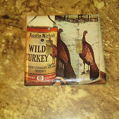 CLASSIC Austin Nichols WILD TURKEY Straight 2 HOLE LIGHT SWITCH COVER PLATE