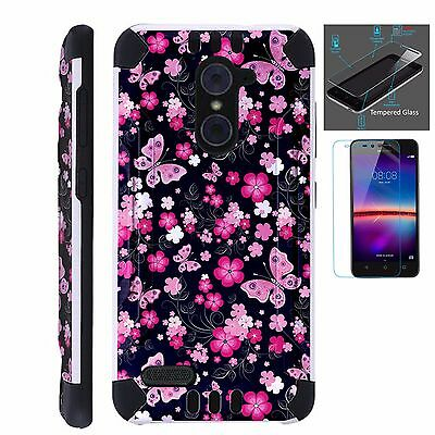 ZTE SLIM CASE + TEMPERED GLASS/Phone Armor Cover MAKE AMERICA GREAT