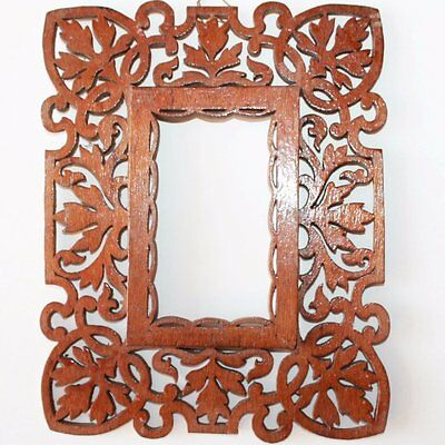 Old Cut Out Art Picture Frame, Wooden Frame
