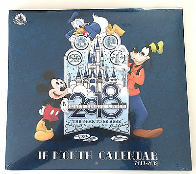 Walt Disney World  2017 - 2018  16 Month Photo Calendar The Year to be Here NEW