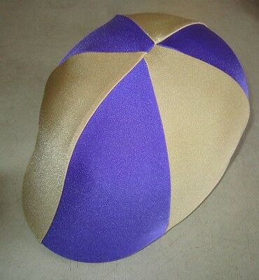 Horse Helmet Cover ALL AUSTRALIAN MADE Purple & Gold  Any size you need