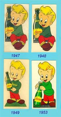 Squirt Soda Boy Decal - Original & Unused 1947, 48, 49 & 53 era - NOS