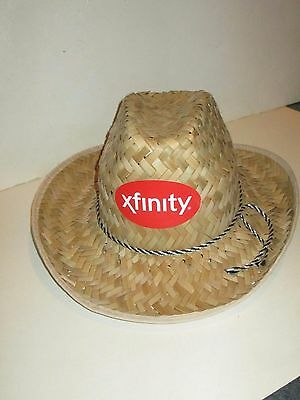 Xfinity Comcast Cable Television Tv Provider Straw Cowboy Hat Deal/2 + Sunscreen