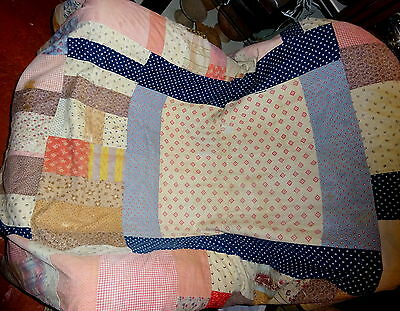 Antique Patchwork Quilt Textile Cover Country House Provenance