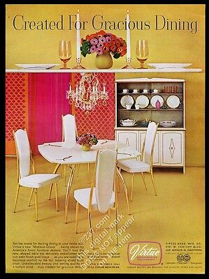 1963 Virtue Brothers Monaco Group table chairs buffet hutch pic vintage print ad