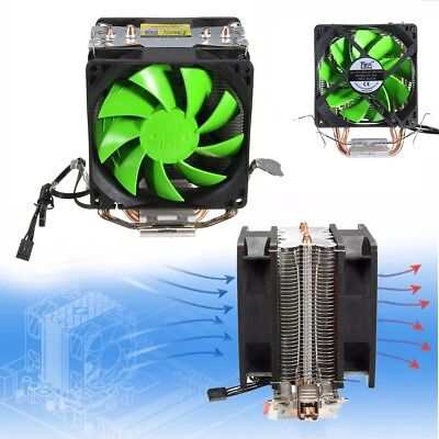Dual Fan CPU Cooling Cooler Heatsink LGA775/1156/1155 AMD AM2/AM2+/AM3