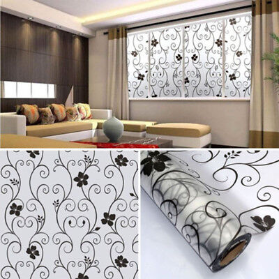 Bedroom Bathroom Home Glass Window Door Privacy Film Sticker PVC Frosted 45cmx1m