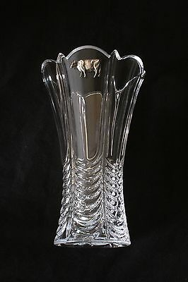 Dairy Cow Vase Flower Table Vase  Cut Crystal Glass Cow Farming Gift