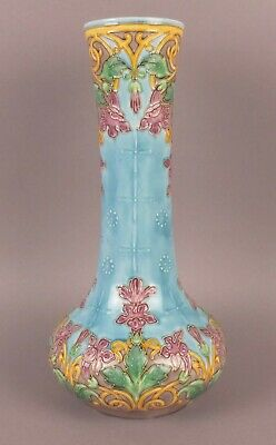 Marvelous Antique French Art Nouveau Majolica Vase by D'ONNAING DU NORD