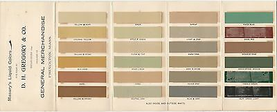 1900 Masury's Liquid Colors Paint Brochure with Color Chips Interior Exterior