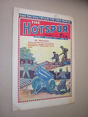 THE HOTSPUR. WARTIME ISSUE MAY 6th 1944. BOY'S COMIC - STORY PAPER.