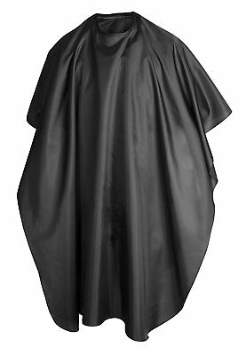 TRIXES Black Hairdressing Gown Salon Barbers Hair Cutting Cape