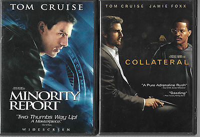 Collateral / Minority Report (DVD, 2004, 2-Disc Sets) 2 Great Tom Cruise Movies!