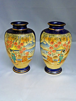 Pair of Japanese Pottery Vases