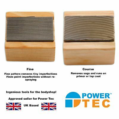Power-TEC 2 x Nib Files - Fine & Coarse - Ideal for Bodyshop - Fix Imperfections