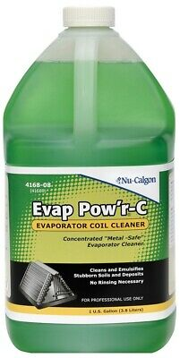 Nu-Calgon 4168-08 Evap Pow'r No Rinse Coil Cleaner- Gal