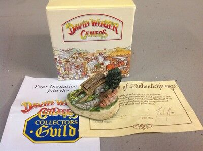 New In Box!! Free Shipping!! DAVID WINTER COTTAGES COLLECTION CAMEOS