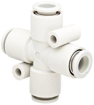 SMC KQ2TW12-00A PBT Push-to-Connect Tube Fitting, Cross, 12 mm Tube OD