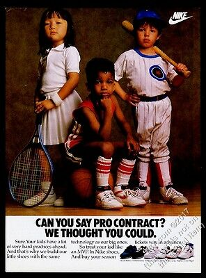 1988 Nike Alpha Force High Low Viper Frontrunner kids shoes photo print ad