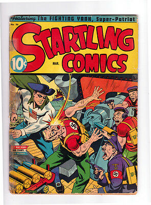 Startling Comics # 26, G, Great Nazi Cover by Schomburg