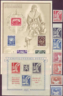 CZECHOSLOVAKIA - 1945-1949 COMPLETE COLLECTION with SHEETS !! - **MNH** CHEAP !!