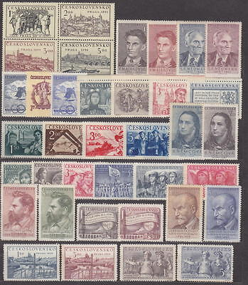 Czechoslovakia - 1950-1954 Complete Collection + Sheets !! - **mnh** Cheap !!