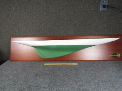 2004 HAND CARVED AMERICA'S CUP SHIPS HALF HULL *RAINBOW* by ELLSWORTH RICE