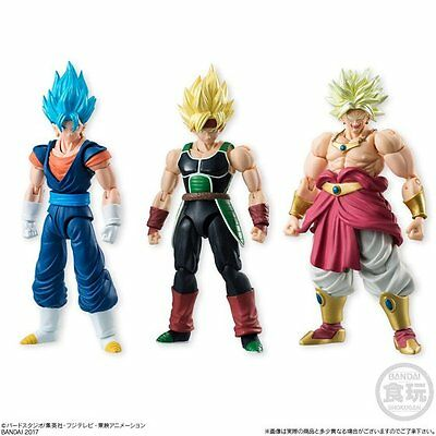 Bandai Shokugan Shodo Vol.5 Super Saiyan Vegetto Bardock Broly 3 figure set