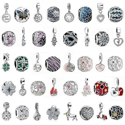 Dangle Charms Bead Pendant Fit 925 Silver European Sterling Bracelets Necklace