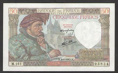 France  50 Francs  1942  P.93  Uncirculated