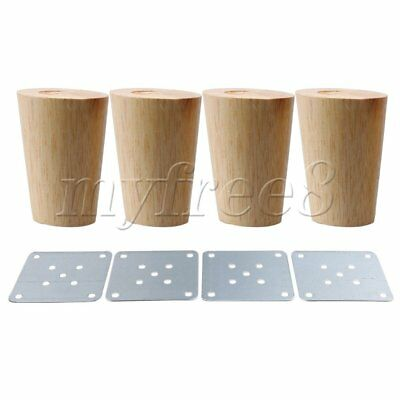 4Pieces 80x58x38mm Cone Wooden Furniture  Legs for Sofa & Tea Table