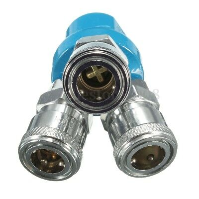 """3 Way Y Type 1/4"""" NPT Quick Connect Coupler Coupling Air Hose Splitter Manifold"""