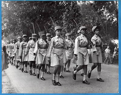 1964 Women's Army Formed in Zanzibar Tanzania Africa Original Press Photo