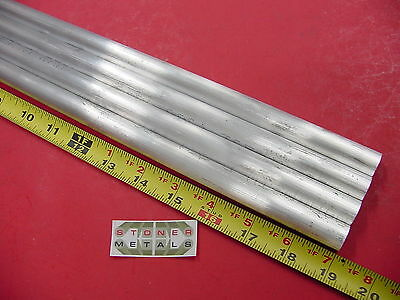 """4 pieces 5/8"""" ALUMINUM 6061 ROUND ROD 19"""" LONG T6511 Solid Lathe Bar Stock .625"""""""