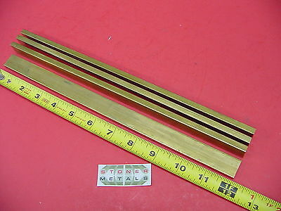 "4 Pieces 1/4"" x 3/4"" C360 BRASS FLAT BAR 12"" long Solid .25""x .75 Mill Stock H02"