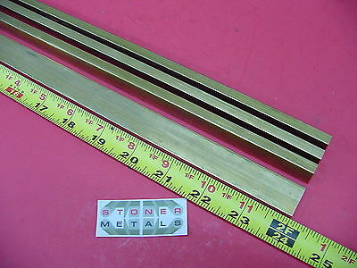 "4 Pieces 1/4"" x 3/4"" C360 BRASS FLAT BAR 24"" long Solid .25""x .75 Mill Stock H02"