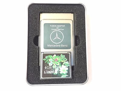 New Pcmcia Compactflash 4Gb Pc Card Cf Adapter For Mercedes Benz Usb Cf Reader