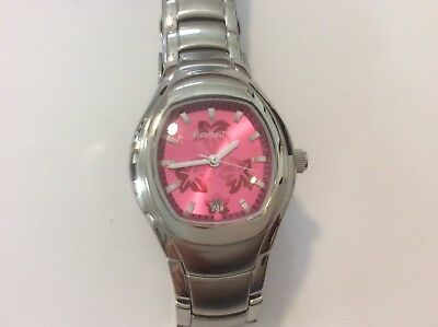 ladies fossil stainless steel watch with date New battery