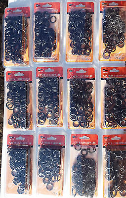 12 PACKETS x 72 PIECE O RING SEAL- FOR GARDEN HOSE FITTINGS
