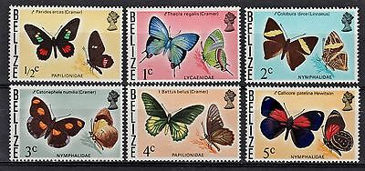 Belize Butterflies 1974-77 Short Set of (6) Lot Scott #345/350 Mint MNH