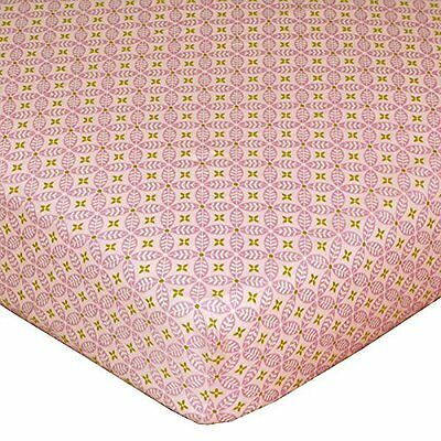 POPPY SEED Orchid Tigerlily Pink Purple Fitted Crib or Toddler Bed SHEET Cotton