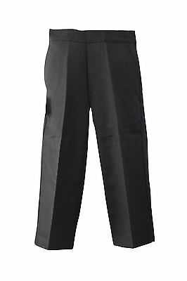 "BOYS SCHOOL QUALITY classic PULL-UP TROUSERS-BLACK/GREY-BY ""PALVINI""-18MTH-7YRS*"